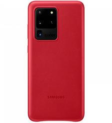 Чехол (клип-кейс) Samsung Galaxy S20 Ultra Leather Cover красный (EF-VG988LREGRU)