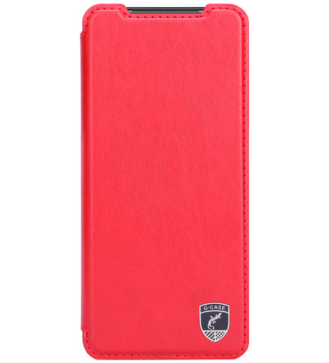 Чехол книга G-Case Slim Premium для Xiaomi Redmi Note 10/Note 10S, красный