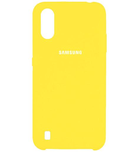 Чехол однотонный для Samsung A01 2020 желтый