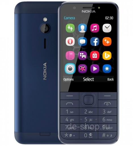 Мобильный телефон Nokia 230 DS Синий