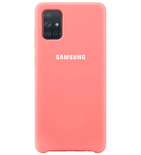 Чехол Silicone case для Samsung A71 2020 розовый