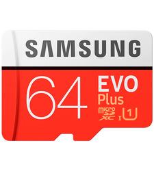 MicroSD 64GB  Samsung Class 10 Evo Plus U1 (R/W 100/20 MB/s) + SD адаптер