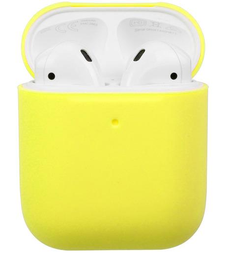 Чехол силиконовый для AirPods Soft Touch Slim (mellow yellow)
