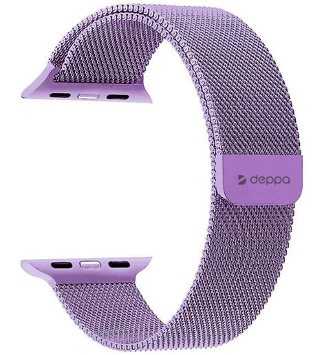 Ремешок Band Mesh для Apple Watch 38/40 mm, нержавеющая сталь, лавандовый, Deppa
