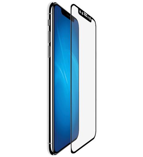 Защитное стекло DF для iPhone X/iPhone XS/iPhone 11 Pro полный клей (black)