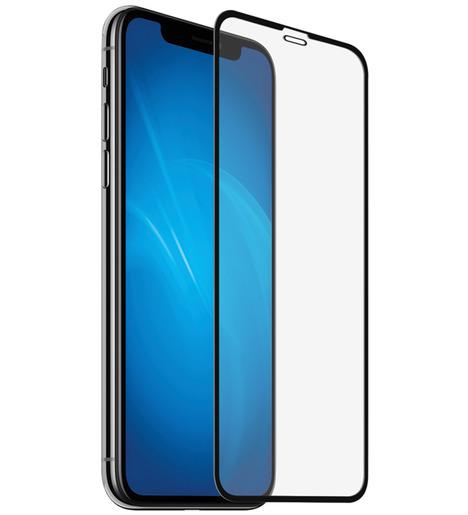 Защитное стекло DF для iPhone XR/iPhone 11 полный клей (black)