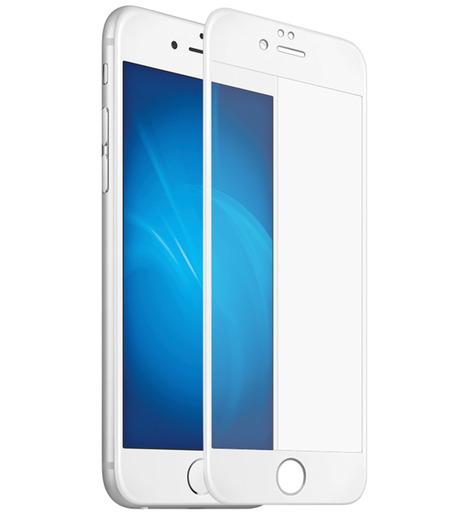 Защитное стекло DF для iPhone 7/iPhone 8 3D (fullscreen+fullglue) (white)