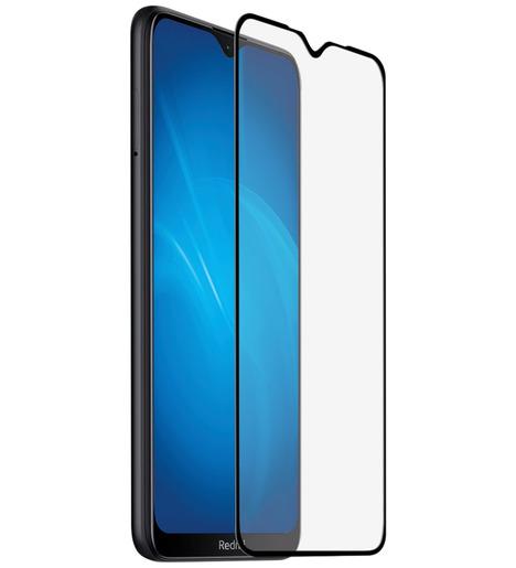 Защитное стекло DF для Xiaomi Redmi 8/Redmi 8A (клей по рамке) fullscreen (black)