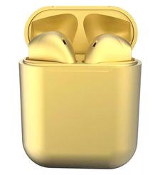 Наушники bluetooth TWS inpods metall, желтый