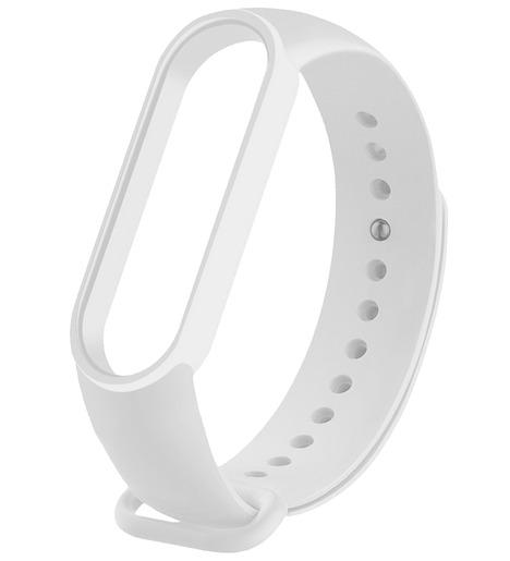 Силиконовый ремешок для Mi Band 5 белый