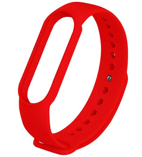 Силиконовый ремешок для Mi Band 5 красный