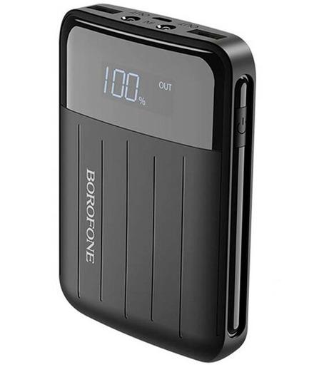 Внешний аккумулятор Borofone BT21 Universal energy mobile power bank 10000 mAh Black
