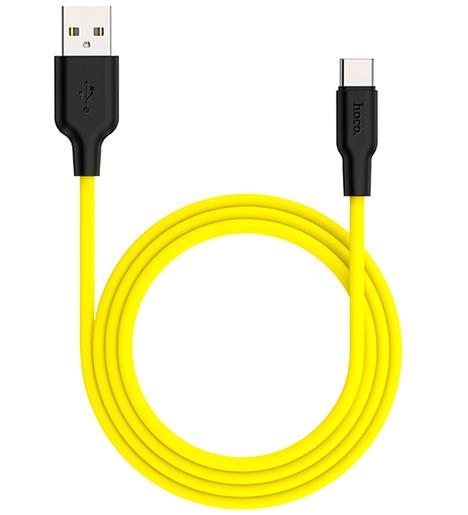 Кабель USB HOCO X21 Plus Type-C 1м (чёрно-желтый)
