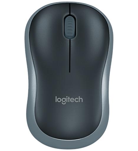Мышь Logitech M185 серый оптическая беспроводная