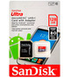 MicroSD 128GB SanDisk Class 10 Ultra+SD адаптер