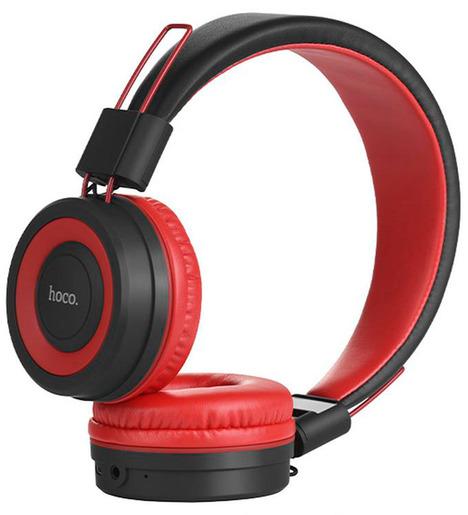 Наушники полноразмерные bluetooth HOCO W16 (красный)