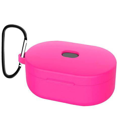 Чехол силиконовый для AirDots Slim + карабин (pink)