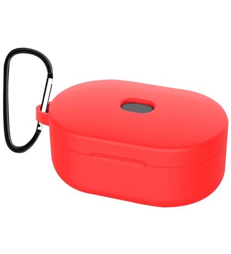 Чехол силиконовый для AirDots Slim + карабин (red)