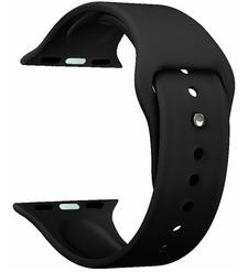 Ремешок Band Silicone для Apple Watch 42/44 mm, силиконовый, черный, Deppa