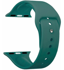 Ремешок Band Silicone для Apple Watch 42/44 mm, силиконовый, зеленый, Deppa