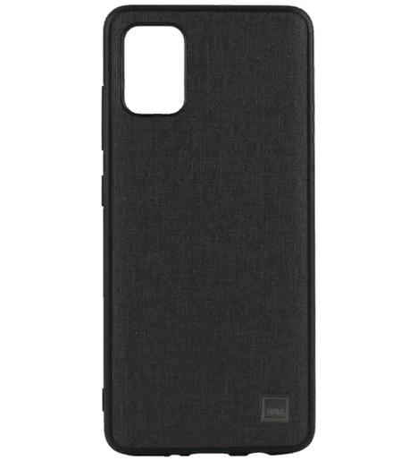 Чехол Uniq для Galaxy A51 Glacier Luxe Kanvas Black