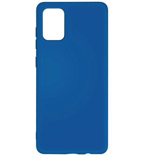 Чехол силиконовый DF для Samsung Galaxy A02S (blue)