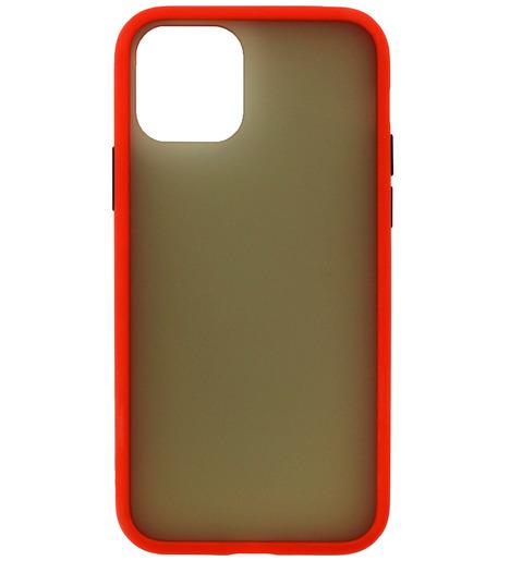 Накладка Zibelino Plastic Matte для Apple iPhone 11 (красный)