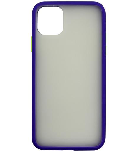 Накладка Zibelino Plastic Matte для Apple iPhone 11 Pro Max (синий)