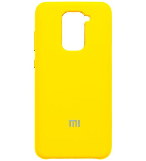 Чехол Silicone case для Xiaomi Redmi Note 9 жёлтый